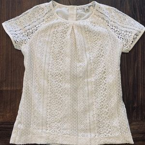 Banana Republic lace blouse, with zipper detail